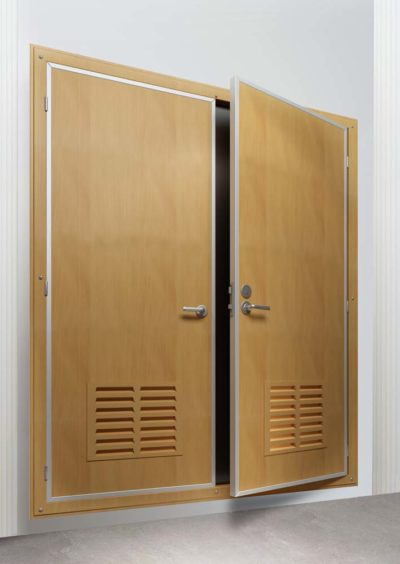 DRShip Europe A-60 fireproof cabin door double leaf with top piece for marine accommodation
