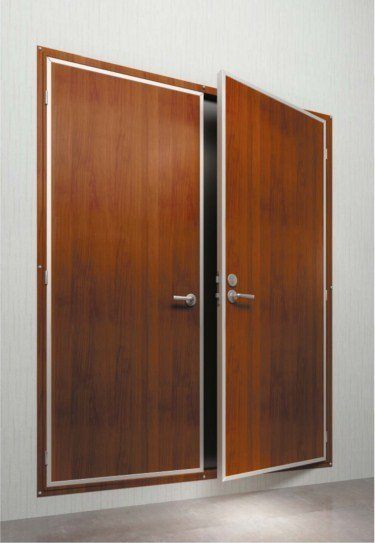 DRShip Europe A-60 fireproof cabin door double leaf for marine accommodation
