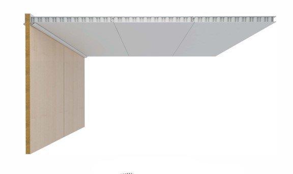 DRShipe Europe B-0 Aluminum Honeycomb ceiling panel Galv/PVC 25mm for marine accommodation