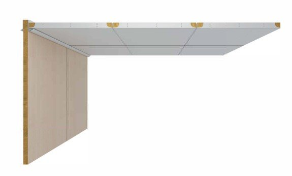 DRShipe Europe B-0 ceiling panel square closed Galv/PVC for marine accommodation