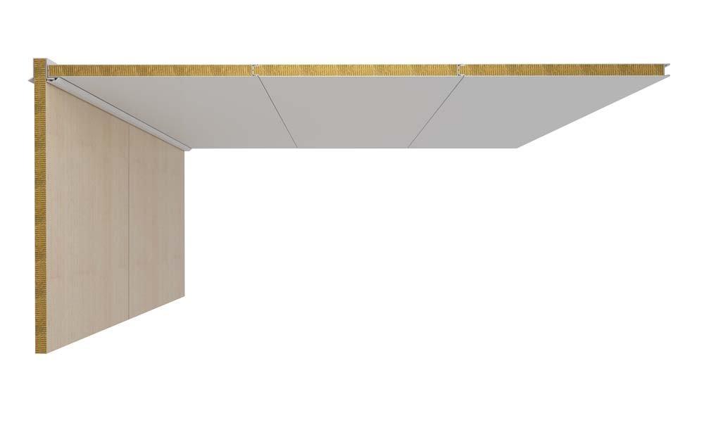 DRShipe Europe B-15 ceiling panel closed Galv/PVC 30mm for marine accommodation