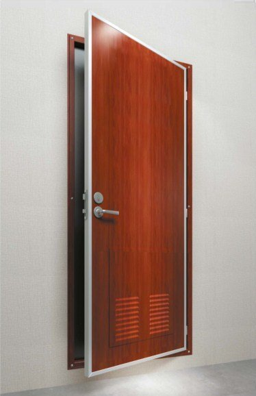 DRShip Europe B-15 fireproof cabin door with ventilation for marine accommodation