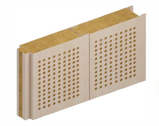 DRShip Europe B15 (Acoustic) certified marine accommodation partition panel covered with PVC coloured foil and perforated for the best acoustic isolation