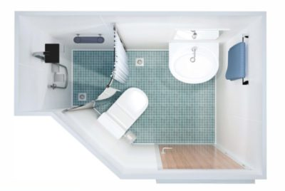 DRShip Europe pre-fabricated sanitary unit Type B for marine accommodations
