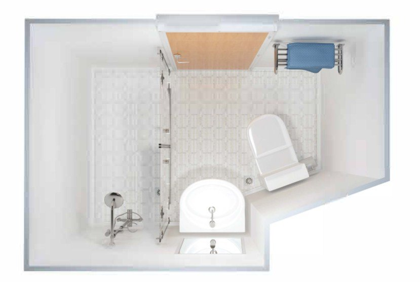 DRShip Europe pre-fabricated sanitary unit Type D for marine accommodations